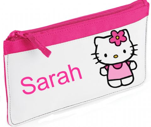 Hello Kitty/Flower Pencil Case